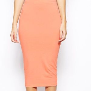 ASOS Peach Pencil Skirt Size 6